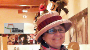 Angelika Albrecht im Hutmuseum in Montappone, Italien - museo del cappello