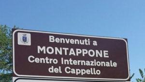 Ortsschild von Montappone, Italien, Region Marken - Angelika Albrecht